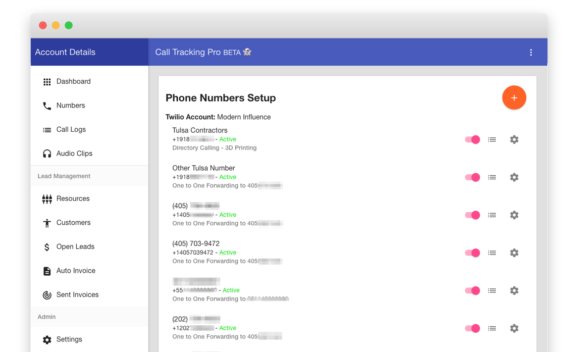 track phone number record calls